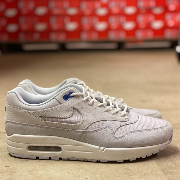 Nike Air Max 1 Premium Mens Shoes White NEW Size 9 NWT